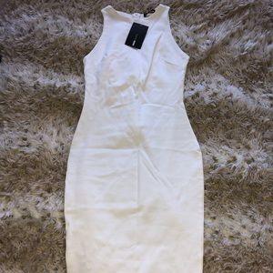 Fashion Nova Body Sculpting White Dress *BRAND NEW